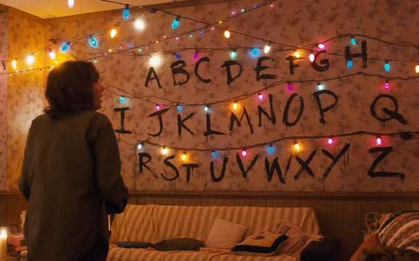 DIY Stranger Things Wall Halloween Costume Idea