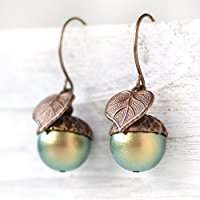 DIY Halloween Costume Idea - Acorn Earrings