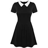 DIY Halloween Costume Idea - Black Collar Dress