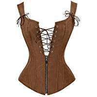 DIY Halloween Costume Idea - Brown Leather Corset
