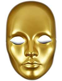DIY Halloween Costume Idea - Gold Mask