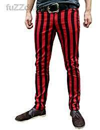 DIY Halloween Costume Idea - Red Striped Pants