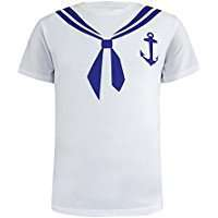 DIY Halloween Costume Idea - Sailor T-Shirt