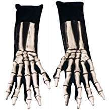 DIY Halloween Costume Idea - Skeleton Gloves