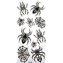 DIY Halloween Costume Idea - Spider Tattoos