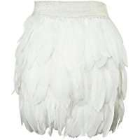 DIY Halloween Costume Idea - White Feather Skirt