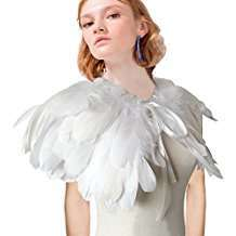DIY Halloween Costume Idea - White Feather Stole