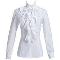 DIY Halloween Costume Idea - White Ruffle Shirt