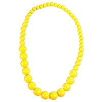 DIY Halloween Costume Idea - Yellow Pearls Necklace