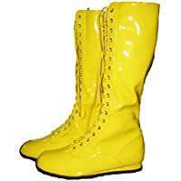 DIY Halloween Costume Idea - Yellow Wrestling Boots