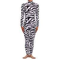 DIY Halloween Costume Idea - Zebra Catsuit