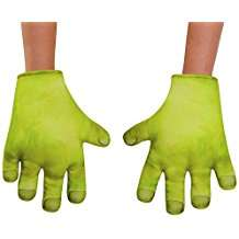 DIY Shrek Halloween Costume Idea - Hands