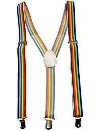DIY Halloween Costume Idea - Suspender Rainbow