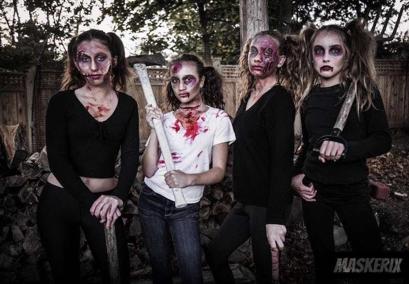 maskerix - DIY Zombie Halloween Group Costume Idea