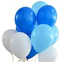 Amazon - Theme Party - Blue & White Balloons