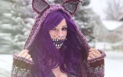 DIY Alice in Wonderland Cheshire Cat Halloween Costume