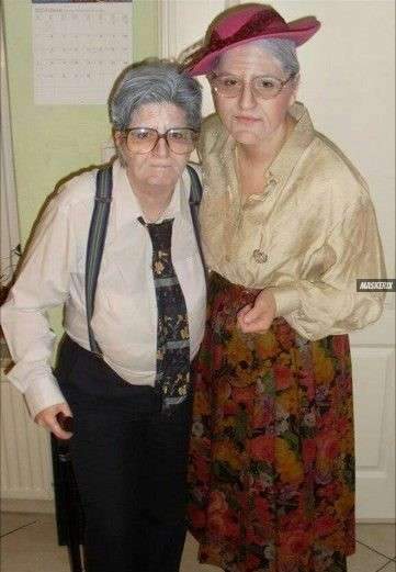 maskerix - DIY Elderly Couple Halloween Costume Idea