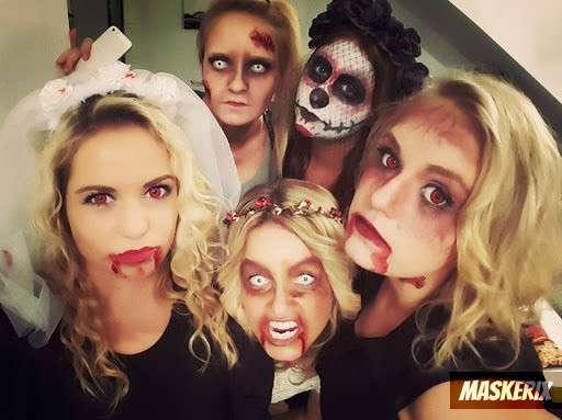 maskerix - DIY Zombie Halloween Group Costume Idea