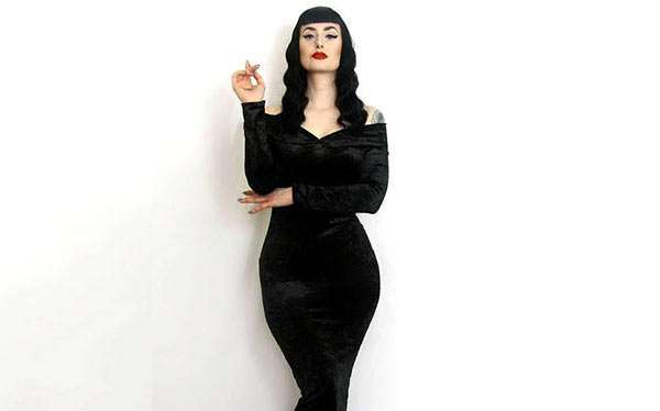 DIY Morticia Addams Costume