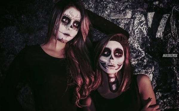 maskerix - DIY Skeleton Halloween Costume Idea