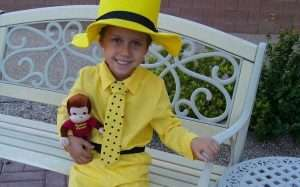 Etsy - DIY Curious George and the Man in The Yellow Hat Halloween Costume Idea