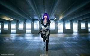DIY Ghost in the Shell Motoko Halloween Costume Idea