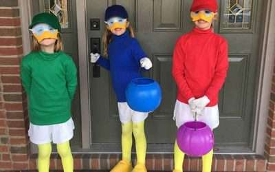DIY Huey Dewey and Louie Costume