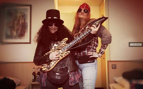 maskerix - DIY Slash and Axl Rose Halloween Costume Idea
