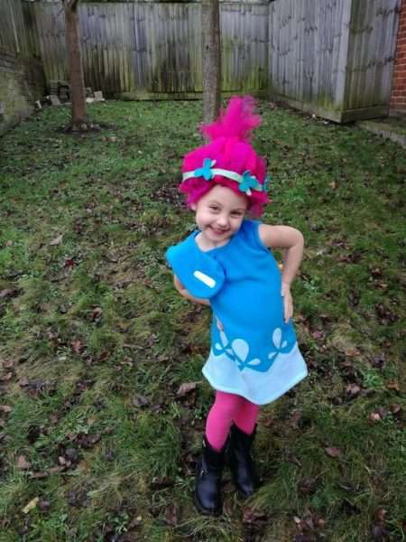 DIY Princess Poppy Halloween Costume Idea