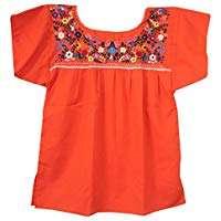 Amazon - DIY Halloween Costume Idea - Orange Mexican Blouse