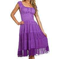 Amazon - DIY Halloween Costume Idea - Purple Peasant Dress