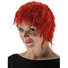 Amazon - DIY Halloween Costume Idea - Red Feather Wigs