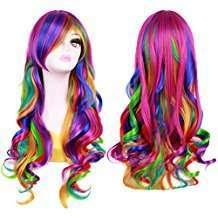 Amazon - DIY Halloween Costume Idea - Rainbow Wig