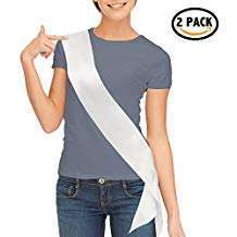 Amazon - DIY Halloween Costume Idea - White Satin Sash