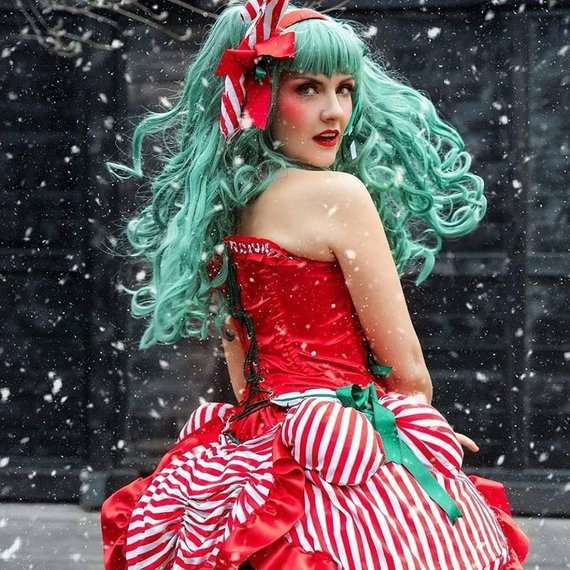 Etsy - DIY Candy Cane Halloween Christmas SantaCon Costume Idea