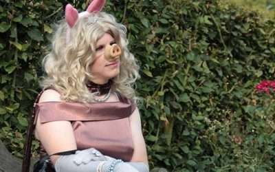 DIY Sesame Street Miss Piggy Costume