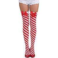 Amazon - DIY Halloween Costume Idea - Candy Cane Stockings Socks