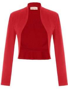 Amazon - Red Bolero Jacket