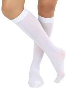 Amazon - White Knee High Socks