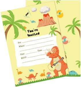 amazon - Dinosaur Invitation Card