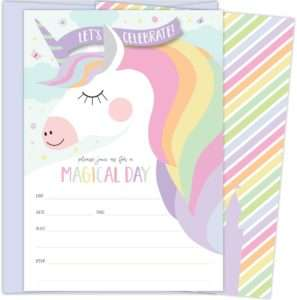 amazon - Unicorn Invitation Cards