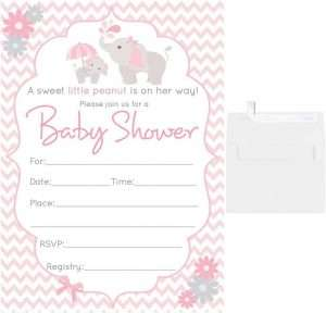 Baby Shower Invitation Card Girls