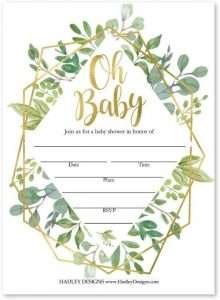 Invitation Cards Baby Shower Neutral